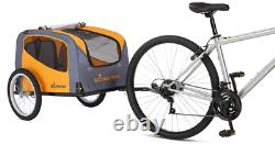 Schwinn Rascal Bike Pet Trailer, For Small and Large Dogs, Adjustable