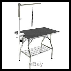 Small Stainless Steel Frame Foldable Dog Pet Table 32 By 21 BLACK Pet Supplies