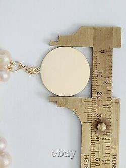 Solid 14K YELLOW GOLD PINK PEARL Dog/ Cat/ PET Necklace. PEARL Pet Collar