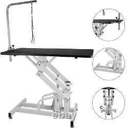 Steel Z-Lift Adjustable Hydraulic Pet Dog Grooming Table 42.5'' With Arm & Noose