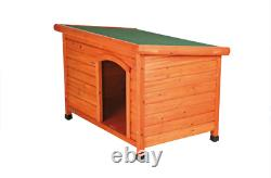 TRIXIE Pet Products Natura Classic Dog House, Flat Hinged Roof, Adjustable Legs