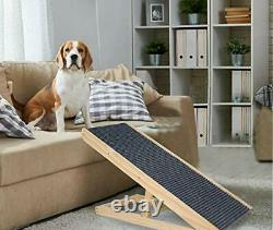 Wooden Adjustable Pet Ramp Folding Portable Dog & Cat Ramp Perfect for Bed