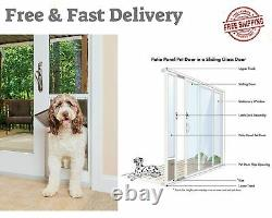 X-Large Dogs and Cats Patio Panel Sliding Glass Pet Door Adjustable Frame