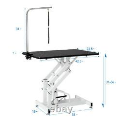 Z-Lift Hydraulic Big Size Pet Grooming Table WithAdjustable Arm Noose for Dog Cat