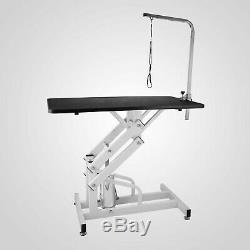 Z-Lift Hydraulic Dog Grooming Tables For Pet Cats Adjustable With Arm And Noose