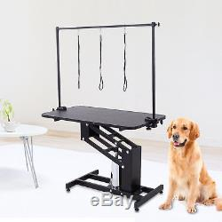 Z-Lift Hydraulic Dog Pet Grooming Table Portable Adjustable Arm & Noose Make up