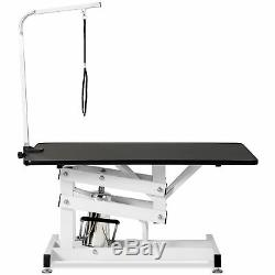 Z-Lift Hydraulic Pet Grooming Table Dog Cat Beauty Table Adjustable Arm + Noose