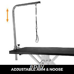 Z-Lift Metal Hydraulic Lifting Pet Dog Cat Grooming Table withAdjustable Arm Noose