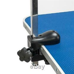Z-Shaped Adjustable Arm & Noose Heavy Type Hydraulic Dog Pet Grooming Table Blue